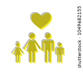 family symbol with heart.... | Shutterstock .eps vector #1049682155