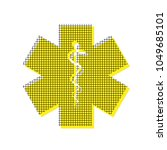 medical symbol of the emergency ... | Shutterstock .eps vector #1049685101