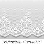seamless vector white lace... | Shutterstock .eps vector #1049693774