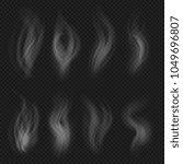 white transparent smoke... | Shutterstock .eps vector #1049696807