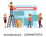 website construction and... | Shutterstock .eps vector #1049697074