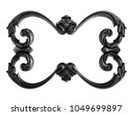 black ornament on a white... | Shutterstock . vector #1049699897