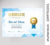 gift certificate  diploma ... | Shutterstock .eps vector #1049701031