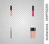 set of cosmetics realistic... | Shutterstock .eps vector #1049702201