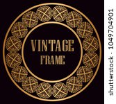 vintage luxury retro ornamental ... | Shutterstock .eps vector #1049704901