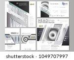 social media posts set.... | Shutterstock .eps vector #1049707997