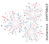 big red and blue fireworks... | Shutterstock .eps vector #1049708615