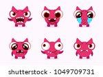 cartoon monsters. vector set of ... | Shutterstock .eps vector #1049709731