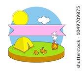 cartoon illustration   outdoor... | Shutterstock .eps vector #1049709875
