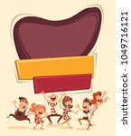 retro template design with... | Shutterstock .eps vector #1049716121