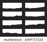 torn paper set. vector... | Shutterstock .eps vector #1049717225