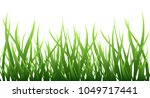green grass border isolated... | Shutterstock .eps vector #1049717441