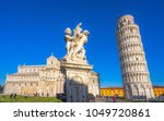 pisa  the leaning tower.... | Shutterstock . vector #1049720861