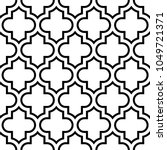 seamless pattern with ogee... | Shutterstock .eps vector #1049721371