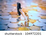 coins and a key | Shutterstock . vector #104972201