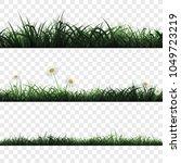 seamless pattern of green grass ... | Shutterstock .eps vector #1049723219