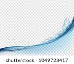 water wave surface and splash... | Shutterstock .eps vector #1049723417