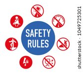 safety rules icon. driving... | Shutterstock .eps vector #1049725301