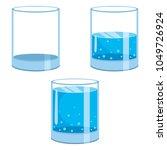 vector illustration of glass of ... | Shutterstock .eps vector #1049726924