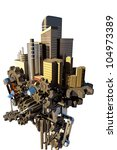 image of 3d render of high tech ... | Shutterstock . vector #104973389