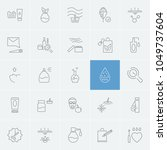 cosmetology icons set with... | Shutterstock .eps vector #1049737604