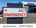 Red Emergency Entrance Sign Fo...