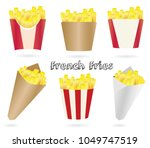 french fries collection in... | Shutterstock .eps vector #1049747519