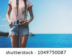 tourist traveler photographer... | Shutterstock . vector #1049750087