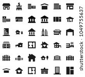 flat vector icon set  ... | Shutterstock .eps vector #1049755637