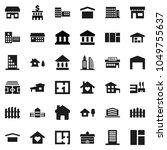 flat vector icon set  ... | Shutterstock .eps vector #1049755637