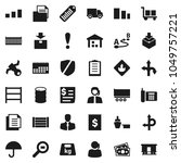 flat vector icon set   route... | Shutterstock .eps vector #1049757221