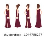 young smiling woman with... | Shutterstock .eps vector #1049758277