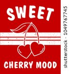 slogan graphic with cherry | Shutterstock .eps vector #1049767745