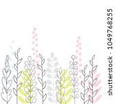 vector floral background  with... | Shutterstock .eps vector #1049768255