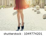 lady having a date with her... | Shutterstock . vector #1049774201