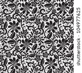 black seamless lace pattern on... | Shutterstock .eps vector #104977625