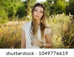 young woman boho style portrait ...   Shutterstock . vector #1049776619