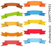 set of ten multicolor ribbons... | Shutterstock . vector #1049779451