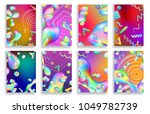 set of abstract backgrounds of... | Shutterstock .eps vector #1049782739