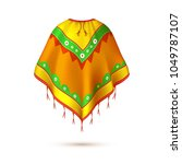 realistic mexican  native... | Shutterstock .eps vector #1049787107