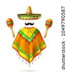 sombrero realistic mexican hat... | Shutterstock .eps vector #1049790587