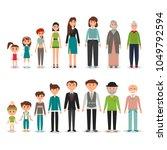 process of aging in vector... | Shutterstock .eps vector #1049792594
