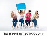 team leader. nice positive... | Shutterstock . vector #1049798894