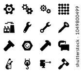 solid vector icon set   heart... | Shutterstock .eps vector #1049800499