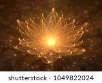 Radiant Orange Lotus With Rays...