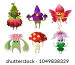 magical flower nature creatures | Shutterstock .eps vector #1049838329