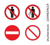 prohibition signs. set of... | Shutterstock .eps vector #1049839619