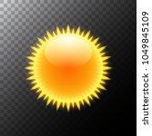 sun realistic rays icon. vector ... | Shutterstock .eps vector #1049845109