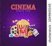 cinema movie vector poster... | Shutterstock .eps vector #1049845145
