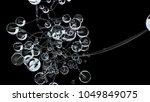 3d molecules or atoms on black... | Shutterstock . vector #1049849075
